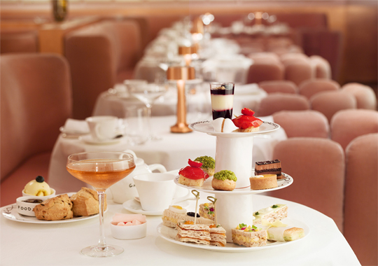 Afternoon tea at sketch London (supplied image)