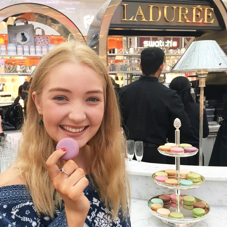 Lauren Kesposito at the opening of Ladurée Chadstone