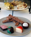 Selection of individual praline chocolates