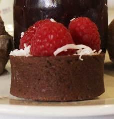 Dark chocolate shortbread tart with fresh berries