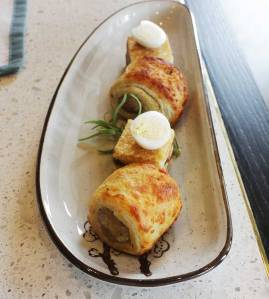 Chicken Sausage Feuillete with Parmesan