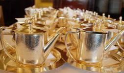 Silver tea pots