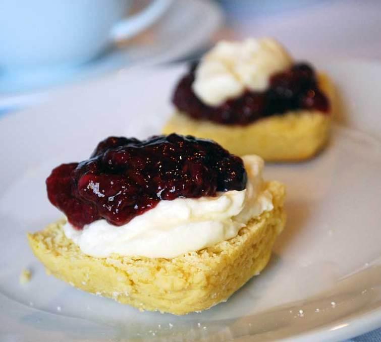 Gluten free scones with jam and cream