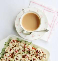 Chicken & Cranberry Pinwheel Sandwiches