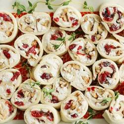 Chicken & Cranberry Pinwheel Sandwiches