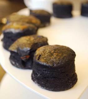 Freshly baked charcoal scones