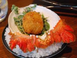 Spanner crab croquette with lemon myrtle bouillabaisse creme fraiche