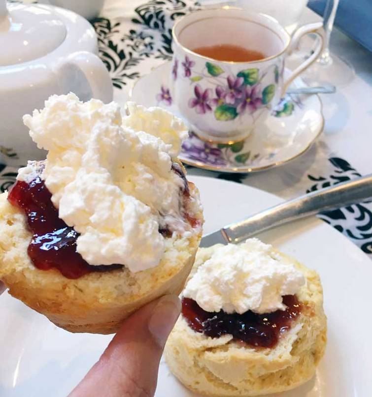 House made scones with jam & cream