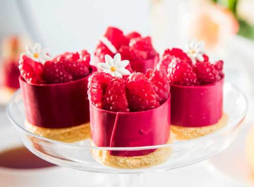 Raspberry and crème fraiche
