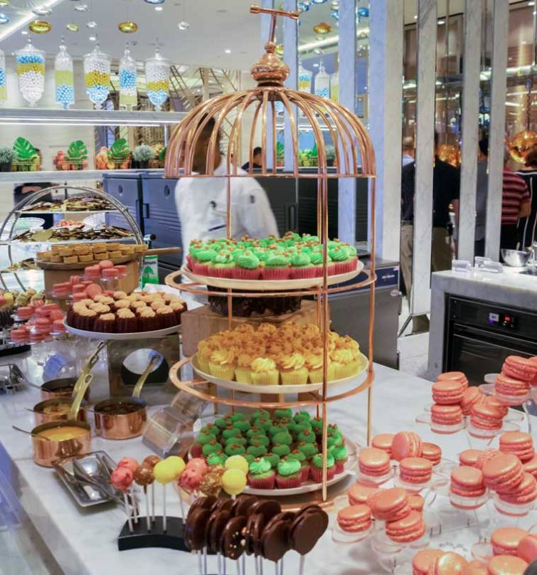 Epicurean's afternoon tea buffet