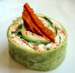 Shark Bay prawn roll, pickled celery, kipfler potato chips - supplied photo