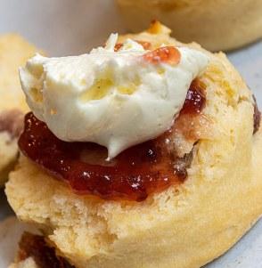 Scones with jam and creamScones with jam and cream