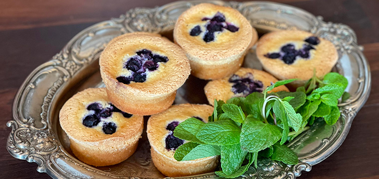 Coconut, Blueberry & White Chocolate Friand