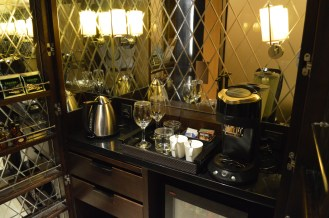 Very opulent mini-bar with the usual selection as well as an espresso machine