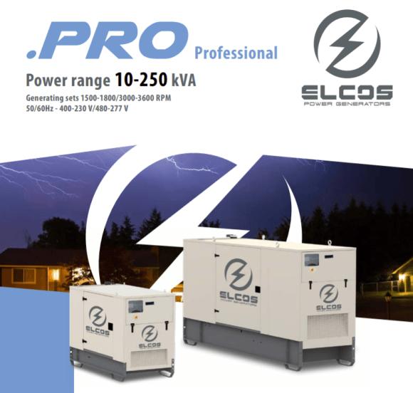 ELCOS Pro series generators