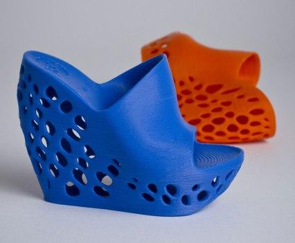Impressão em 3D. Escolha o modelo e imprima. Macedonia High Heels Shoes by Janne Kyttane for The Cube
