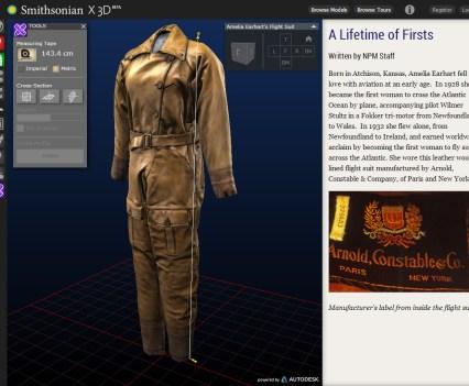 Smithsonian X 3D, Amelia Earhart's Flight Suit