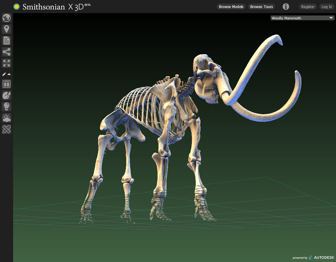 Smithsonian X 3D, Woolly Mammoth