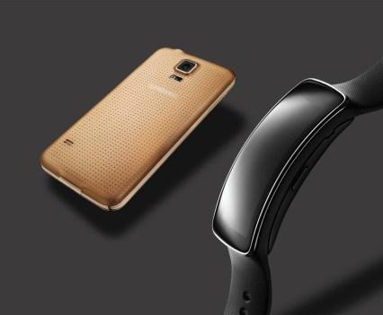 Pulseira de Fitness Glam Gear Fit, Galaxy S5 Gold