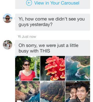 Carousel app, da Dropbox. Para organizar fotografias.