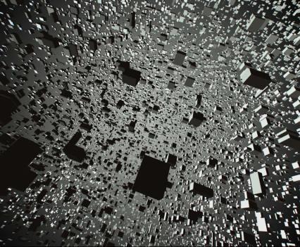 Arte digital, no The Barbican, em Londres. Clouds, 2013. James George and Jonathan Minard