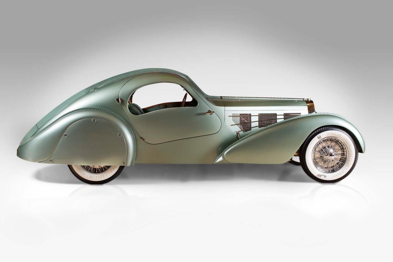 Carros de sonho. 1935, Bugatti Type 57S Compétition Coupé Aerolithe recreation