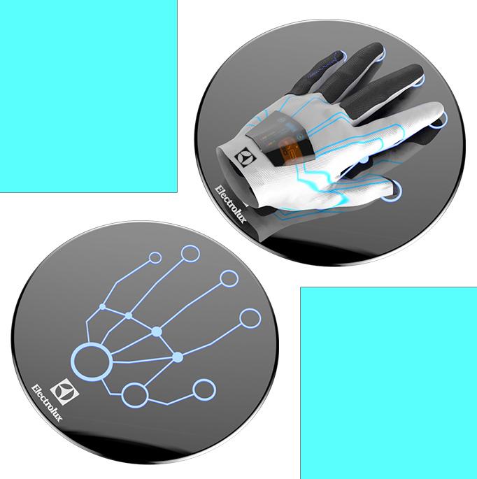Instant Cleaning Glove, para limpar roupa num segudo. Electrolux Design LAB