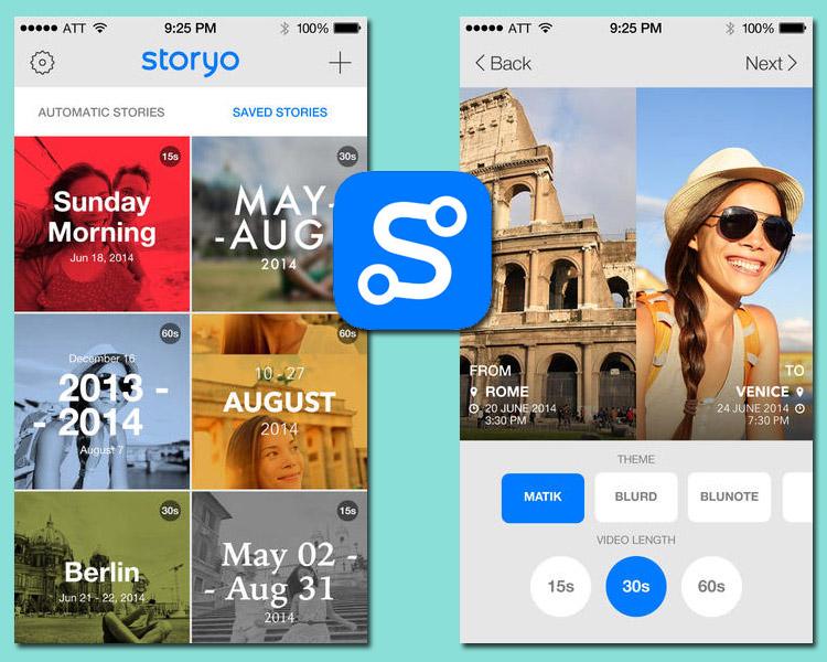 Storyo, a aplicação que cria histórias com os nossos momentos especiais