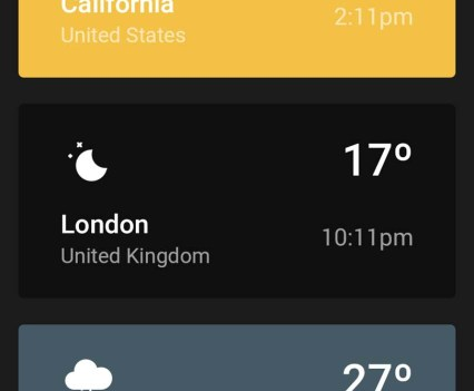 Weather Timeline. Apps para saber o estado do tempo