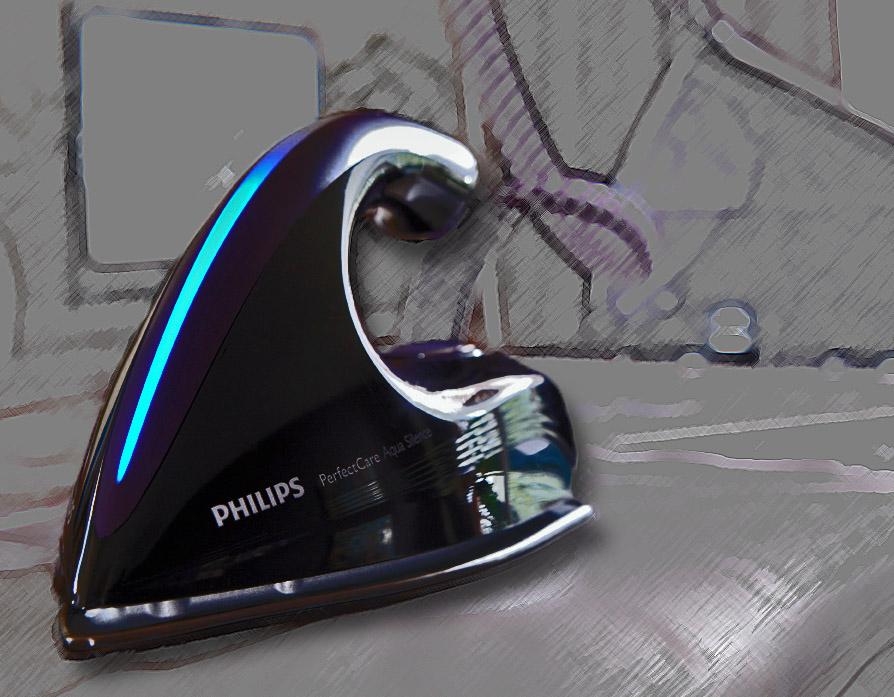 Roupas impecáveis. Sistema de vapor Philips PerfectCare Aqua GC8650