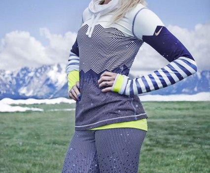 Exercícios com as atletas de Inverno na app Nike+ Training Club. Na foto Silje Norendal