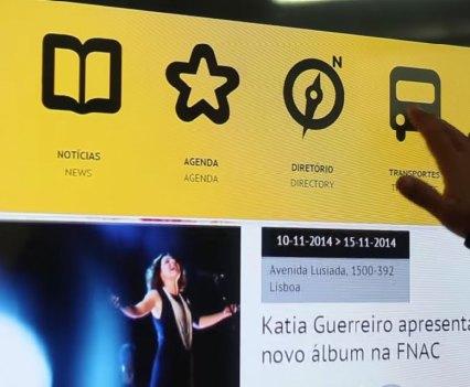 Lisboa. Tomi, um outdoor interativo