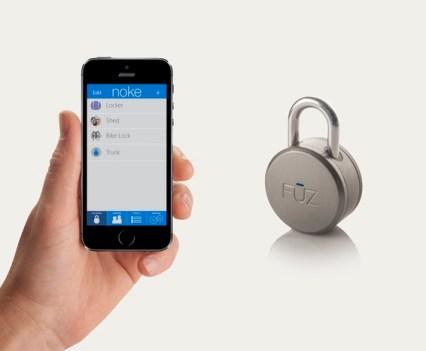 Segurança e tecnologia. Cadeado Noke