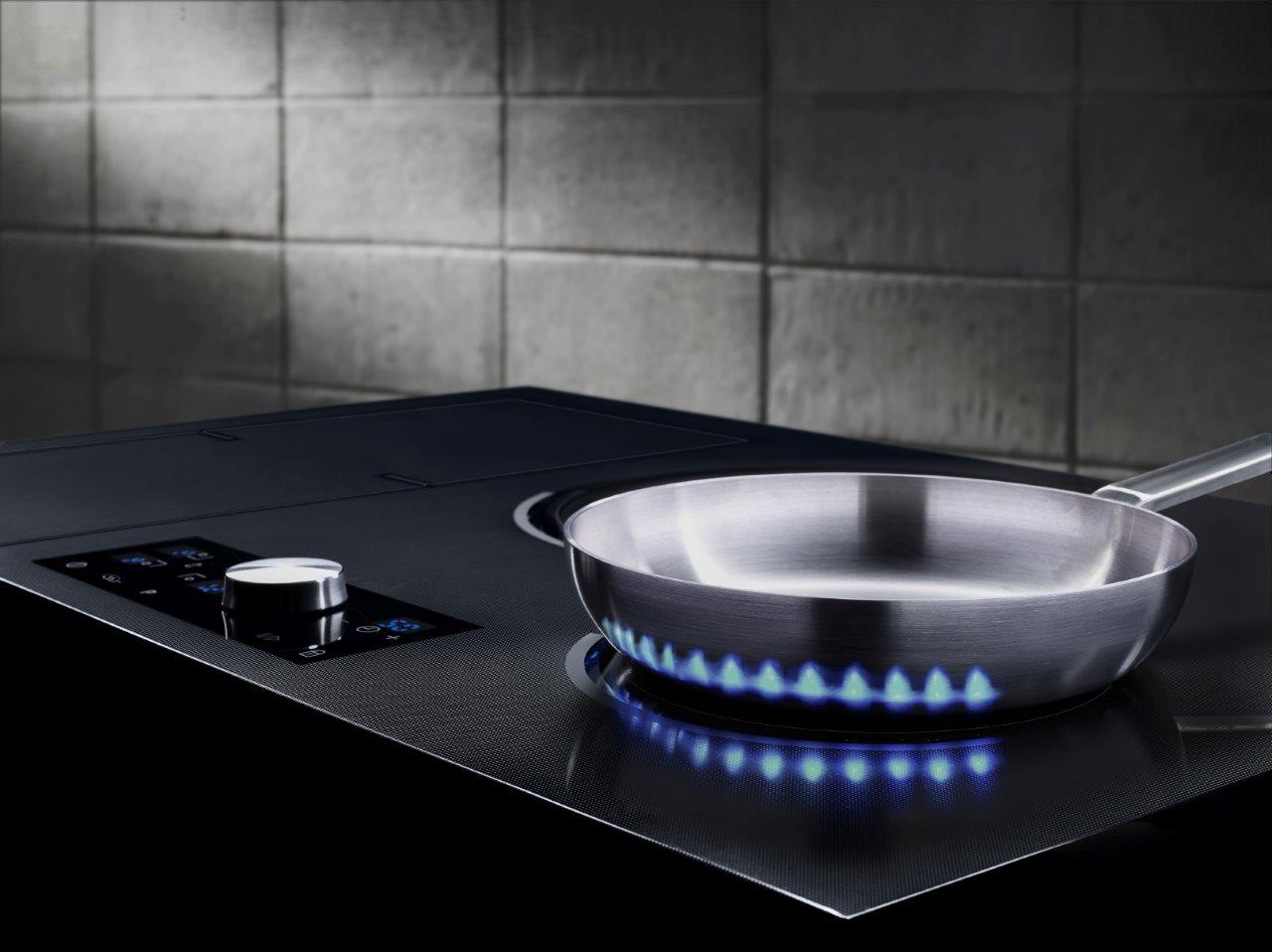 Cozinha premium Chef Collection, da Samsung. Chama virtual
