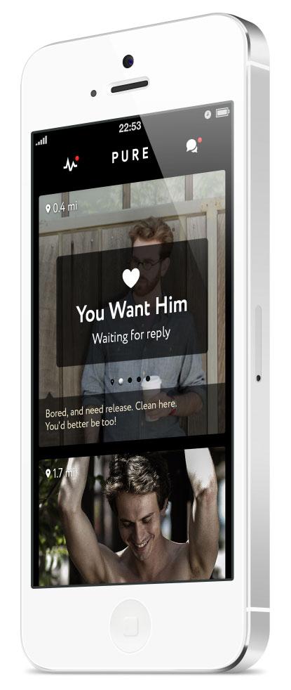 Apps para encontrar um grande amor. Pure
