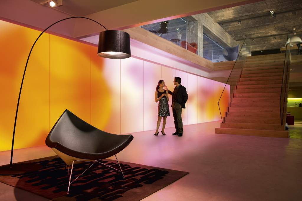 Luminous textiles. Texteis com LED numa parceria entre a Philips e a Kvadrat Soft cells