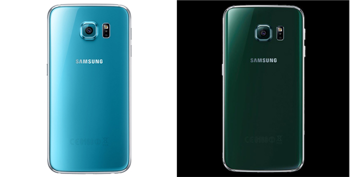 As novas cores dos Galaxy S6