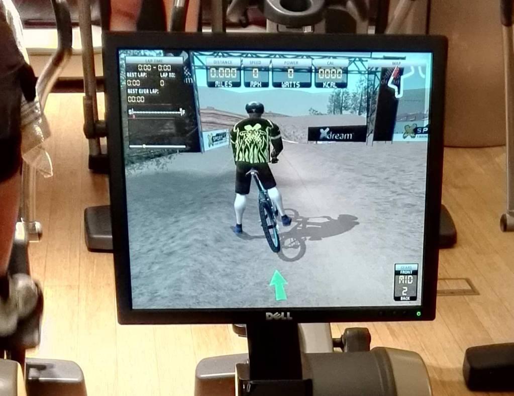 Fitness e tecnologia. X Dream, detalhe do ecrã