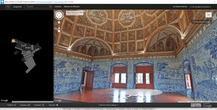 Google e as maravilhas de Portugal. Palácio Nacional de Sintra