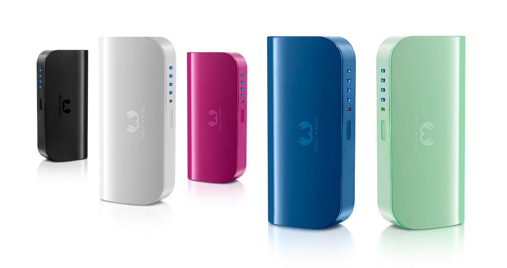 Powerbanks, para que não fique sem bateria. Powerbank 5200 mAh, da Fresh'n Rebel