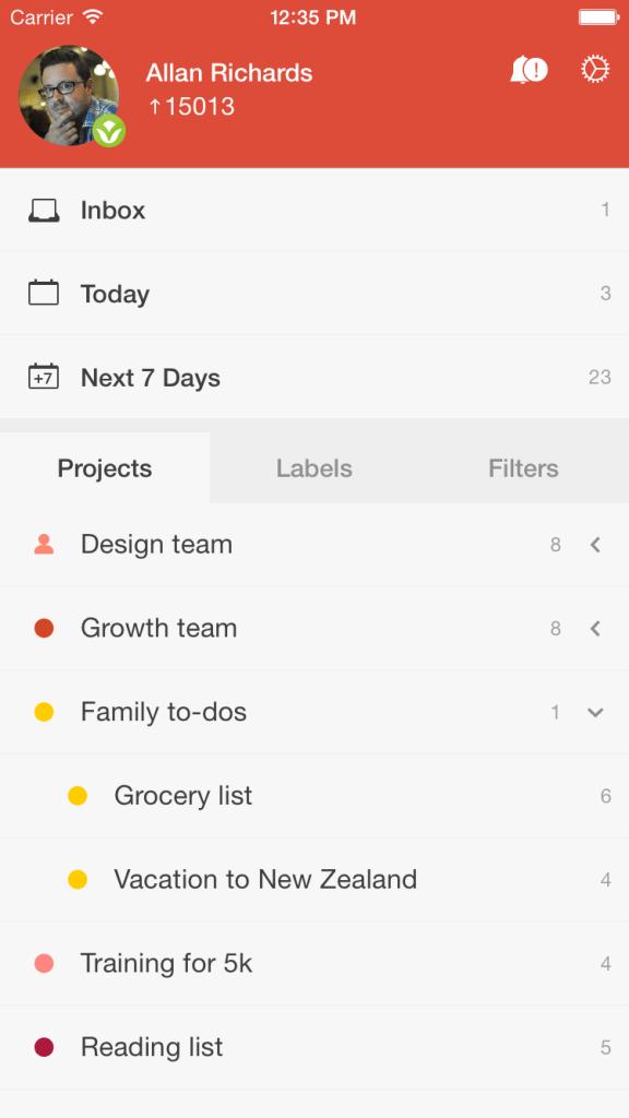 Apps para organizar a vida. Todoist