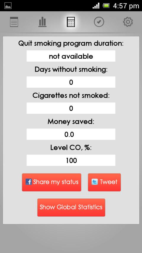 Apps para parar de fumar. Quit Smoking