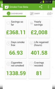 Apps para parar de fumar. Smoke Free