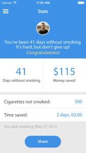 Apps para parar de fumar. Quit Now