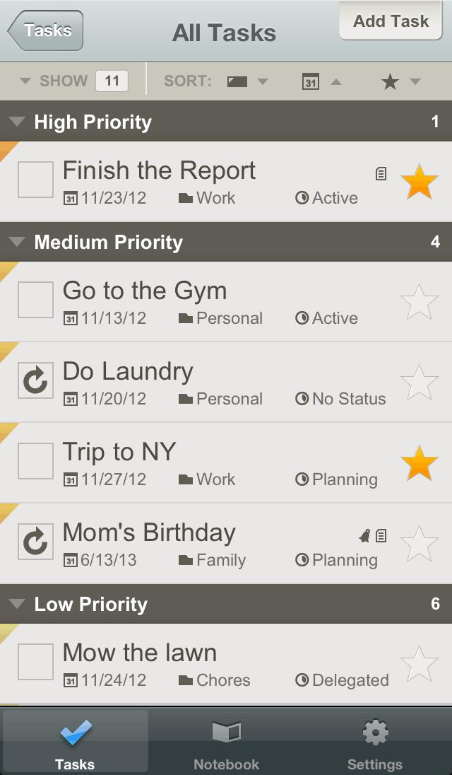 Apps para organizar a vida. Toodledo
