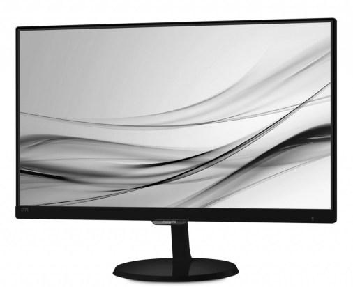 A elegância dos monitores da nova série-E, da Philips. Este é o 237E7QDSB