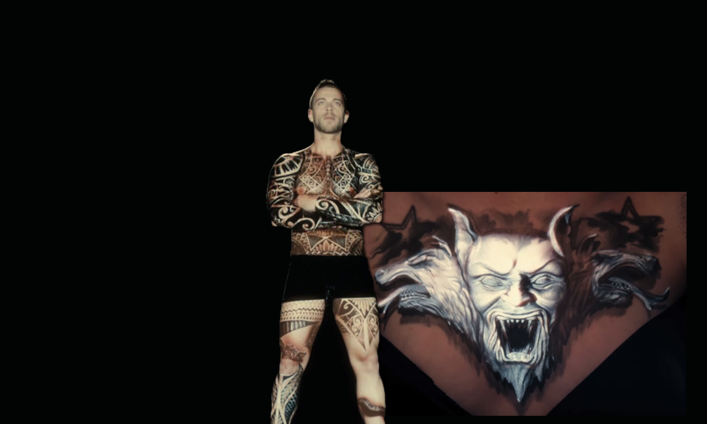 Ink Mapping. Video mapping em tatuagens, por Oskar&Gaspar