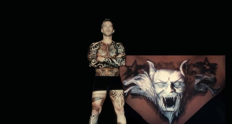 Ink Mapping. Video mapping em tatuagens, por Oskar&Gaspar