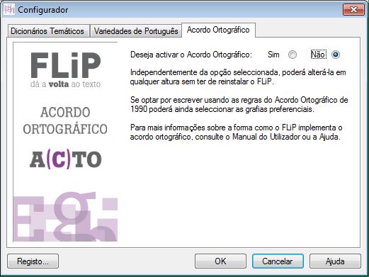 Flip 10, para escrever em português correto