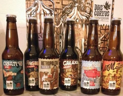 Cervejas artesanais Dois Corvos